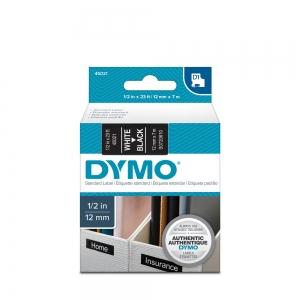 Banda D1 12 mm x 7 m, alb / negru, DYMO cod DY 450211