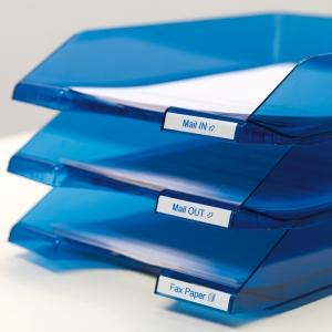 Banda D1 9 mm x 7 m, albastru / alb DYMO cod DY 409142
