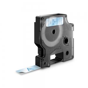 Banda D1 12 mm x 7 m, albastru / transparent, DYMO cod DY 45011