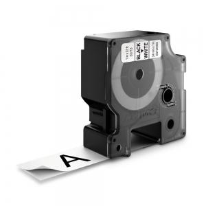 Banda D1 24 mm x 7 m, negru / alb, DYMO cod DY 53713