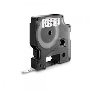 Etichete autocolante, DYMO LabelManager D1, 6mm x 7m, negru/alb, 43613, S07207800
