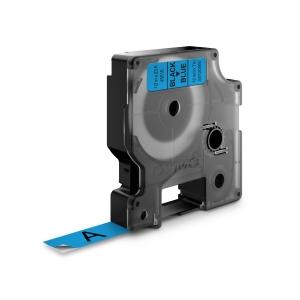 Banda D1 12 mm x 7 m, negru / albastru, DYMO cod DY 45016