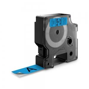 Banda D1 19 mm x 7 m, negru / albastru, DYMO cod DY 45806