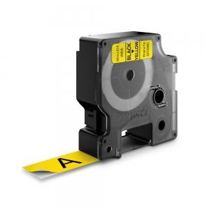 Banda D1 19 mm x 7 m, negru / galben, DYMO cod DY 458080