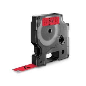 Etichete autocolante, DYMO LabelManager D1, 12mm x 7m, negru/rosu, 45017, S07205700