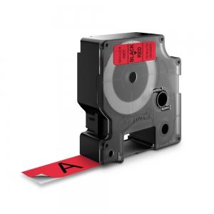 Banda D1 19 mm x 7 m, negru / rosu, DYMO cod DY 45807