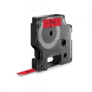 Banda D1 9 mm x 7 m, negru / rosu, DYMO cod DY 40917