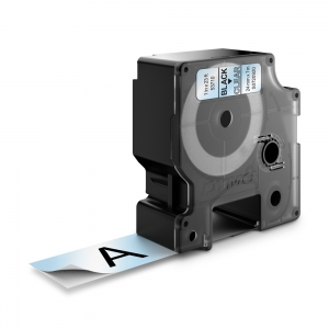 Banda D1 24 mm x 7 m, negru / transparent, DYMO cod DY 53710