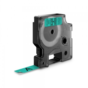 Banda D1 12 mm x 7 m, negru / verde, DYMO cod DY 45019