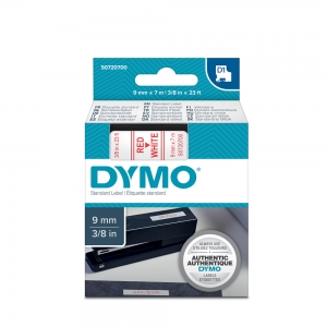 DYMO LabelManager D1 labels, 9mm x 7m, red on white, 40915, S07207003
