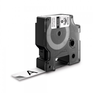 Banda ID1, nylon flexibil, 19 mm x 3,5 m, negru/alb, DYMO DY 18489 DY184890