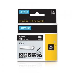 Banda ID1, vinil, 19 mm x 5,5 m, alb/negru, DYMO DY 1805436 DY18054361