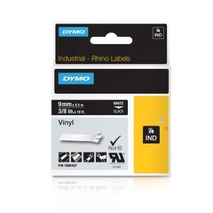 Banda ID1, vinil, 9 mm x 5,5 m, alb/negru, DYMO DY 1805437 DY18054371