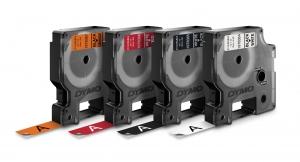Etichete autocolante industriale, DYMO LabelManager Durable, 12mm x 3m, alb/negru, 19783658