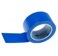 Banda marcare/protectie, 1 culoare, 3M 764I vinil, albastru, 50mm X 33m, 24 role/cutie