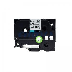 Etichete autocolante compatibile, adeziv puternic, Brother TZe-S251, 24mm x 8m, negru/alb, TZe-S251-C0