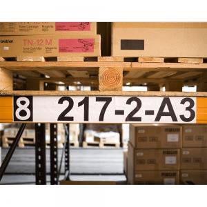 Etichete termice autocolante compatibile, Brother DK-22243, hartie alba, modul continuu, 62mmx102m, suport din plastic inclus DK22243-C1