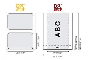 Eticheta originala modul continuu hartie Brother DK22205, 62mm x 30.48mm, BH DK222057