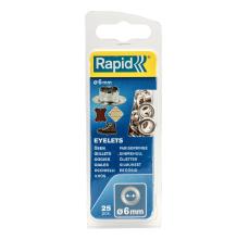 Ocheti Rapid  - diametrul de 6 mm, aluminiu, sistem fixare inclus, 25buc/ blister1