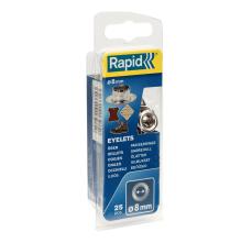 Ocheti Rapid  - diametrul de 8 mm, aluminiu, sistem fixare inclus, 25buc/ blister1