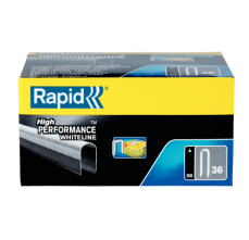 Capse Rapid 36/14 mm, plastifiate alb, divergente, 5x1.000/ cutie1