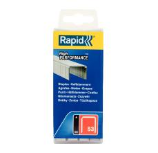 Capse Rapid 53/16 mm, galvanizate, 5.000/ cutie polipropilena1