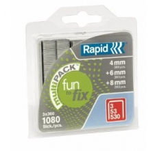 Capse Rapid Fun to Fix Multipack 53/4-6-8 mm, galvanizate, 1.080/ blister