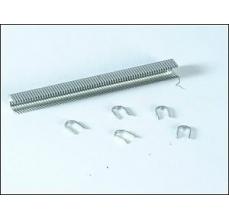 Capse Rapid 28/9 mm, galvanizate alb, divergente, 5x1.000/ cutie1