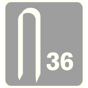 Capse Rapid 36/12 mm, galvanizate, divergente, 1.000/ cutie5