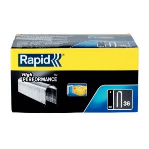 Capse Rapid 36/12 mm, galvanizate, divergente, 1.000/ cutie4