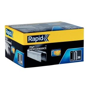 Capse Rapid 36/12 mm, galvanizate, divergente, 1.000/ cutie3