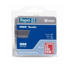 Capse Rapid 53/14 mm, galvanizate, 1.080/ blister0