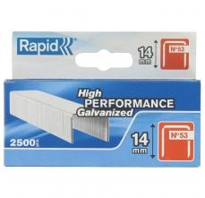Capse Rapid 53/14 mm, galvanizate, 2.500/ cutie0