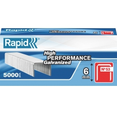 Capse Rapid 53/6 mm, galvanizate, 5.000/ cutie0