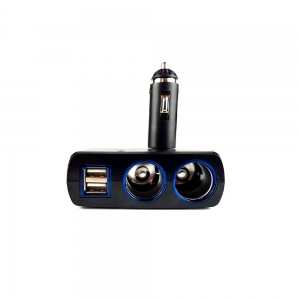 Adaptor spliter auto Olesson, 2 cai fixe + 2 USB, iluminate LED, 16370