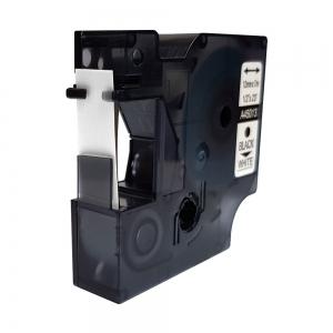 Etichete autocolante, DYMO LabelManager D1, compatibile, 12mm x 7m, negru/alb, 45013 S0720530-C7