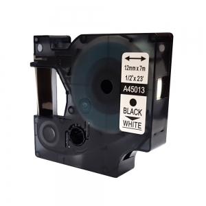 banda-compatibila-dymo-d1-12-mm-x-7-m-negru-alb-dymo-cod-dy-45013