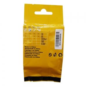 Etichete industriale autocolante compatibile, DYMO ID1, nailon flexibil, 12mm x 3.5m, negru/galben, 18490 18490-C7