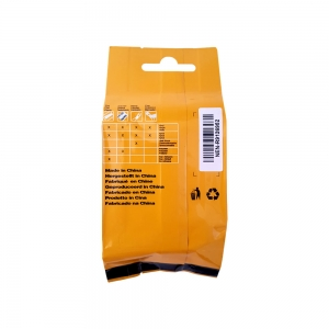 Compatible Flexible Nylon Tape, 19mm x 3,5 m,black on yellow, DYA184916