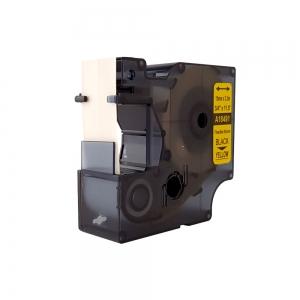 Compatible Flexible Nylon Tape, 19mm x 3,5 m,black on yellow, DYA184914