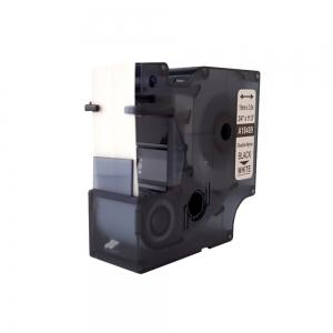 Etichete industriale autocolante compatibile, DYMO ID1, nailon flexibil, 19mm x 3.5m, negru/alb, 18489 S0718120-C6