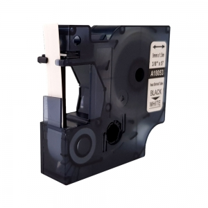Tub termocontractant compatibil ID1, 9 mm x 1,5 m, negru/alb, DYMO DYA 18053 DYA18053 A180531