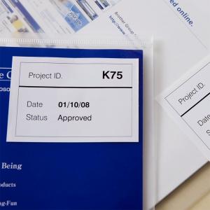 Etichete termice autocolante compatibile, Brother DK-44205, hartie alba, modul continuu, repozitionabile, 62mmx30.48m, suport din plastic inclus DK44205-C1