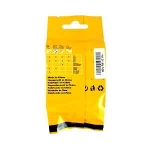 Etichete industriale autocolante compatibile, DYMO ID1 vinil, 9mm x 5.5m, negru/alb, S0718580-C 184438