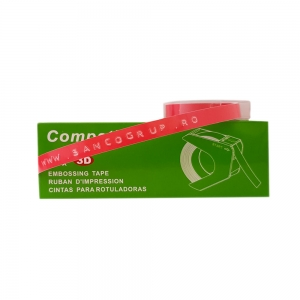 Embossing Tape 9mm compatible DYMO, pink, A520105 S0898150-C1