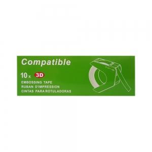 Etichete plastic embosabile compatibile DYMO Omega, 9mmx3m, roz, A520105 S0898150-C2