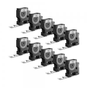 Etichete autocolante plastifiate, DYMO LabelManager D1, 19mm x 7m, negru/alb, 10 buc/set, DY45803 S0720830 20930987