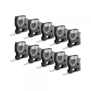 Etichete autocolante, DYMO LabelManager D1, 6mm x 7m, negru/alb, 10 buc/set, 43613 DY436134