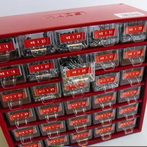 Etichete plastic embosabile DYMO Omega, 9mmx3m, rosu, S0898150 S08476901