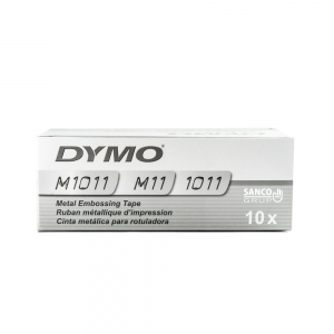 Etichete metalice embosabile industriale DYMO, 12mmx3,65m, aluminiu adeziv, 35800 S072018014